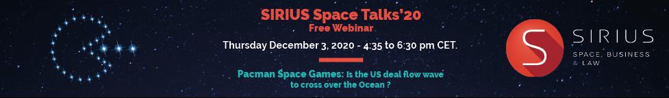 2020 Sirius Space Talks Banner