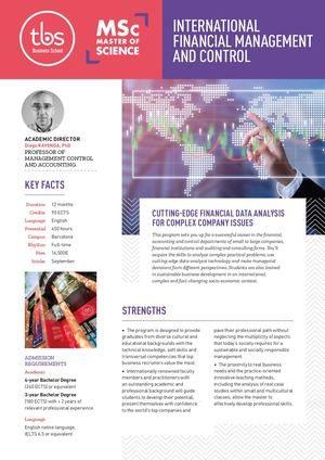 Tbs Msc International Financial Management And Control