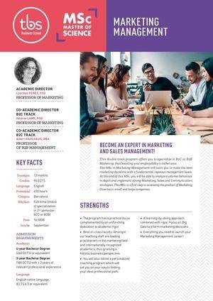 Tbs Msc Marketing Management