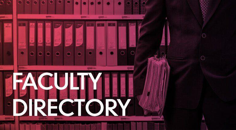 Mega Menu F&r Faculty Directory
