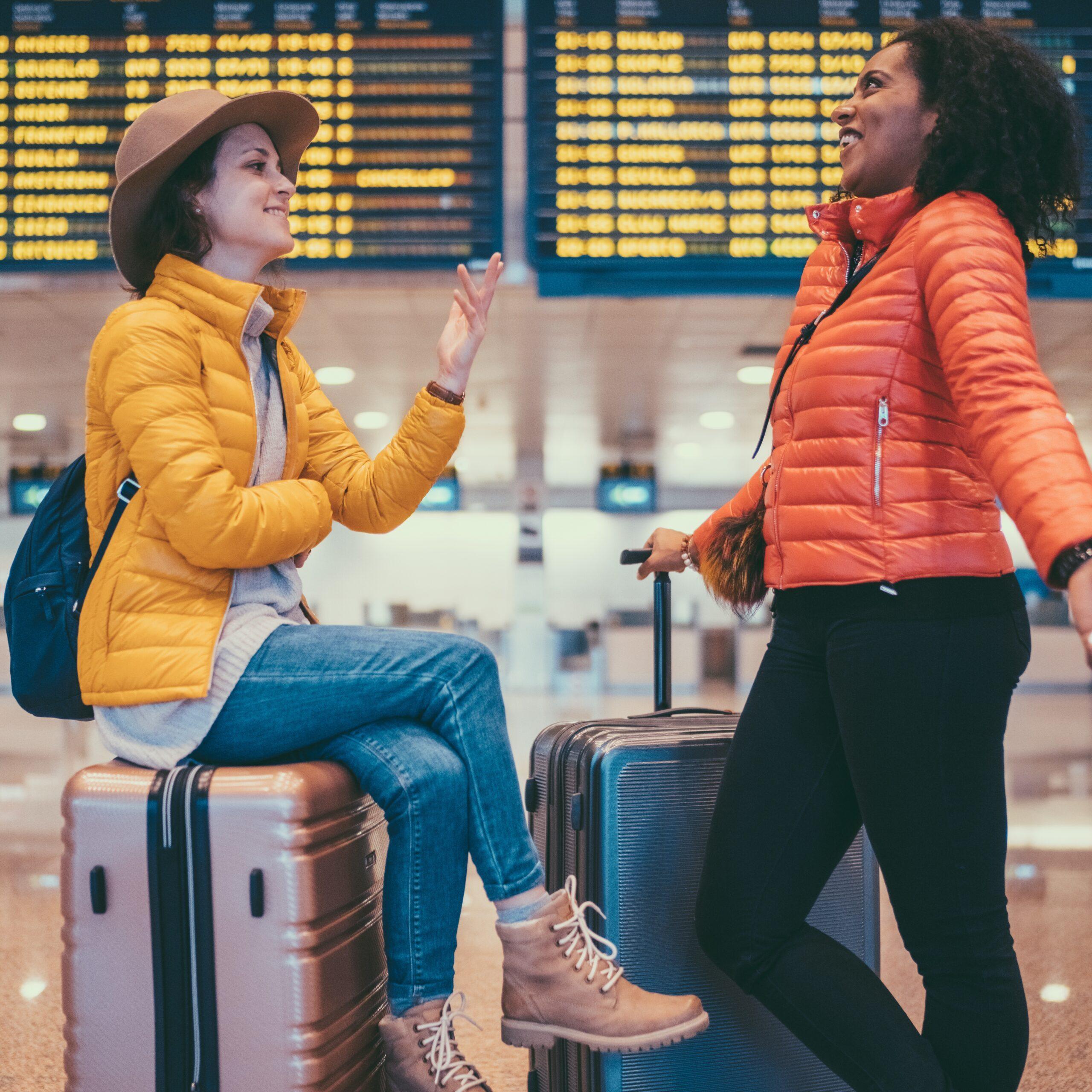 Girls At Airport