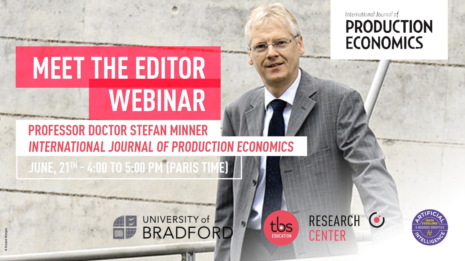 Stefan Minner Meet The Editor
